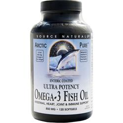 SOURCE NATURALS Ultra Potency Omega-3 Fish Oil (850mg) Enteric Coated 120 sgels