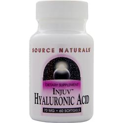 SOURCE NATURALS Injuv Hyaluronic Acid (70mg) 60 sgels