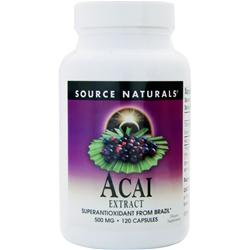 SOURCE NATURALS Acai Extract (500mg) 120 caps