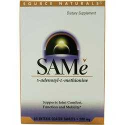 Source Naturals SAMe  BEST BY 8/19 60 tabs