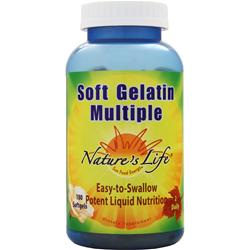 Nature's Life Soft Gelatin Multiple 180 sgels