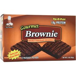 Chef Jay's Tri-O-Plex Brownies Double Chocolate 12 pckts