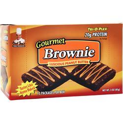 CHEF JAY'S Tri-O-Plex Brownies Peanut Butter 12 pckts