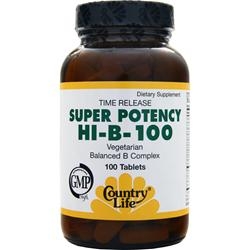 COUNTRY LIFE Super Potency HI-B-100 100 tabs