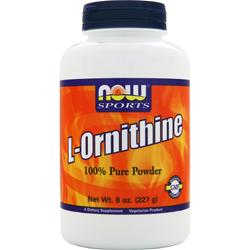 Now L-Ornithine 100% Pure Powder 8 oz