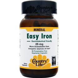 COUNTRY LIFE Easy Iron (25mg) 90 vcaps