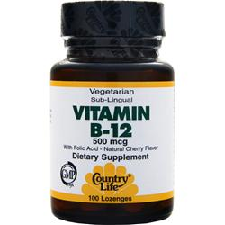 COUNTRY LIFE Vitamin B-12 (500mcg) 100 lzngs