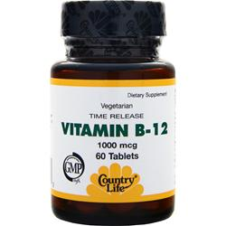 COUNTRY LIFE Vitamin B-12 (1000mcg) 60 tabs