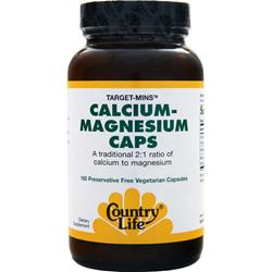 COUNTRY LIFE Target Mins - Calcium Magnesium Caps 180 vcaps
