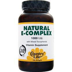 Country Life Natural E-Complex (1000IU) 120 sgels