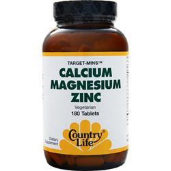 Country Life Target Mins - Calcium Magnesium Zinc 180 tabs