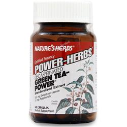 NATURE'S HERBS Green Tea - Power (Caffeine Free) Caffeine-Free 60 caps