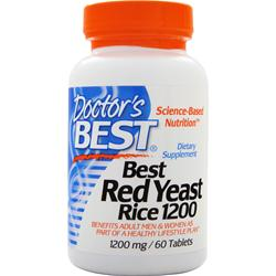 DOCTOR'S BEST Best Red Yeast Rice (1200mg) 60 tabs