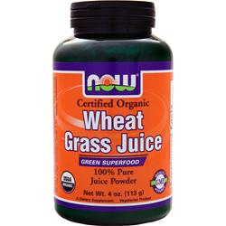 NOW Organic Wheat Grass Juice 4 oz