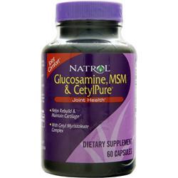Natrol Glucosamine, MSM & CetylPure 60 caps