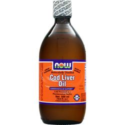 NOW Cod Liver Oil Lemon 16.9 fl.oz