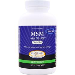 ENZYMATIC THERAPY MSM with GS-500 180 caps