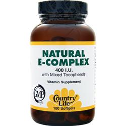 COUNTRY LIFE Natural E-Complex (400IU) 180 sgels