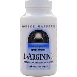 SOURCE NATURALS L-Arginine (1000mg) 100 tabs