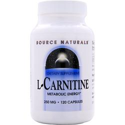 SOURCE NATURALS L-Carnitine (250mg) 120 caps