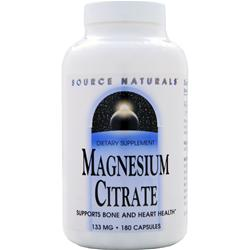 SOURCE NATURALS Magnesium Citrate (133mg) 180 caps