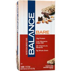 BALANCE BAR Balance Bare Sweet and Salty Bar Chocolate Almond 15 bars