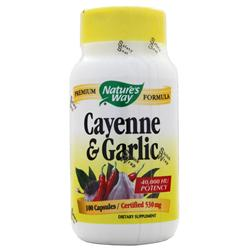NATURE'S WAY Cayenne and Garlic 100 caps