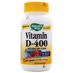 NATURE'S WAY Vitamin D-400 Natural Dry Form 100 caps