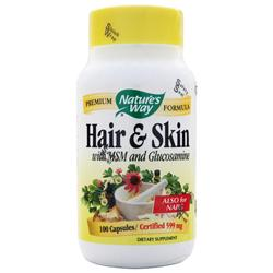 Nature's Way Hair and Skin with MSM and Glucosamine 100 caps