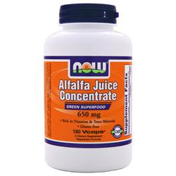 NOW Alfalfa Juice Concentrate (650mg) 180 vcaps