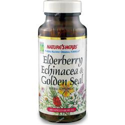 Nature's Herbs Elderberry, Echinacea and Golden Seal Root 100 caps