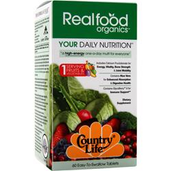 Country Life Real Food Organics - Your Daily Nutrition 60 tabs