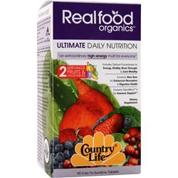 COUNTRY LIFE Real Food Organics Ultimate Daily Nutrition 90 tabs