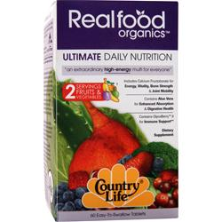 COUNTRY LIFE Real Food Organics Ultimate Daily Nutrition 60 tabs