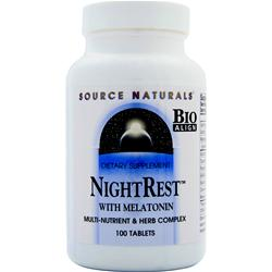 Source Naturals NightRest with Melatonin 100 tabs