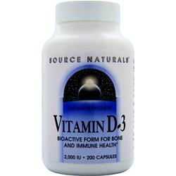 SOURCE NATURALS Vitamin D-3 (2000IU) 200 caps