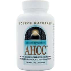 SOURCE NATURALS AHCC - Active Hexose Correlated Compound (750mg) 60 caps