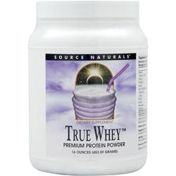 SOURCE NATURALS True Whey Premium Protein Powder 16 oz