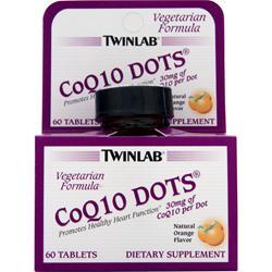 TwinLab CoQ10 Dots Natural Orange 60 tabs