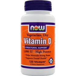 NOW Vitamin D (1000 IU) 120 vcaps