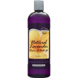 NOW Natural Shower and Bath Gel Lavender 16 fl.oz