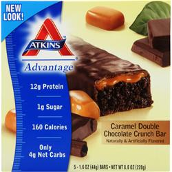 ATKINS Advantage Caramel Bar Double Chocolate Crunch 5 bar