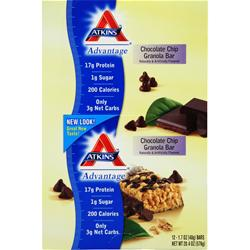 ATKINS Advantage Bar Chocolate Chip Granola 12 bars