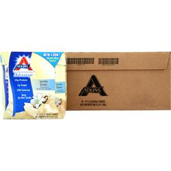 ATKINS Advantage Shake - Ready To Drink (Tetra-Can) Vanilla 24 cans