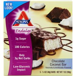 ATKINS Endulge Bar Chocolate Coconut 5 bars