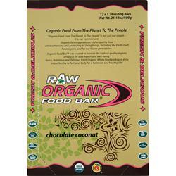 ORGANIC FOOD BAR Raw Bar Chocolate Coconut 12 bars