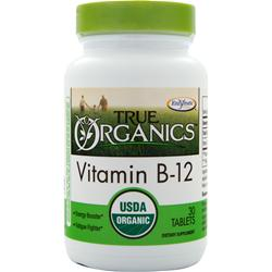 Enzymatic Therapy True Organics Vitamin B12 30 tabs