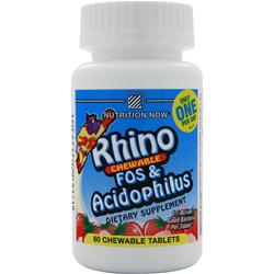 NUTRITION NOW Children's Rhino FOS & Acidophilus Strawberry 60 tabs