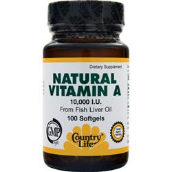 COUNTRY LIFE Natural Vitamin A (10000IU) 100 sgels