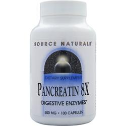 SOURCE NATURALS Pancreatin 8X (750mg) 100 caps